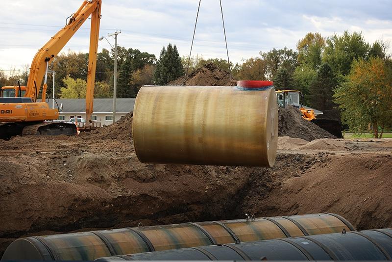 DEF below ground tank installation by Westmor