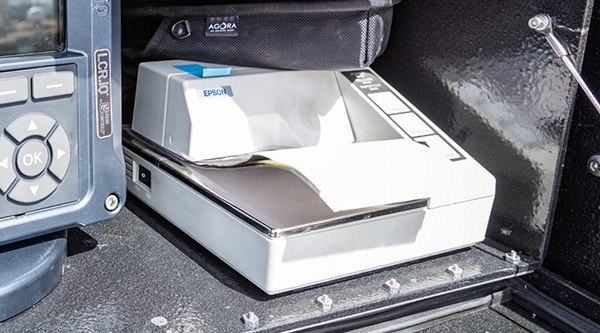 Metered Transport feature - slip printer by Westmor