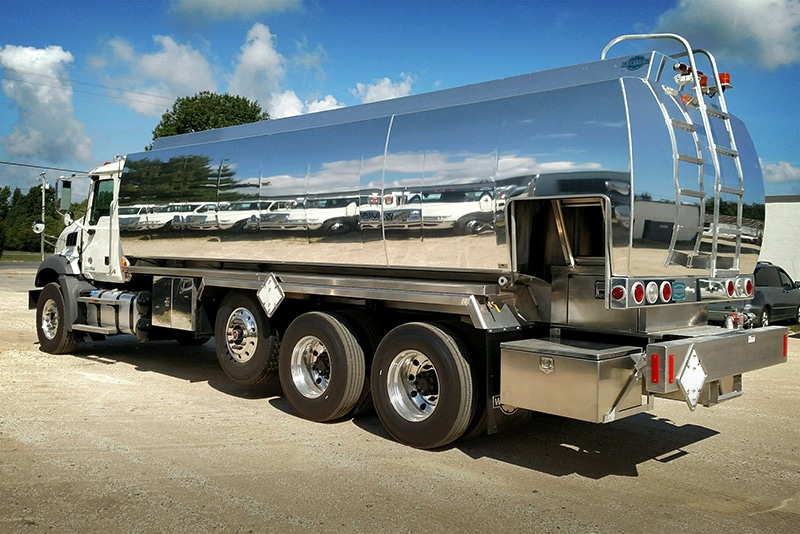 NCT refined fuel truck half-canopy with nassau wrap by Westmor