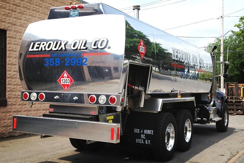 NCT refined fuel truck tank custom Leroux by Westmor
