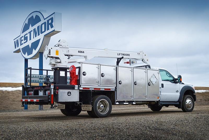 Aluminum/Steel Service Body LP Crane Service Truck | Westmor