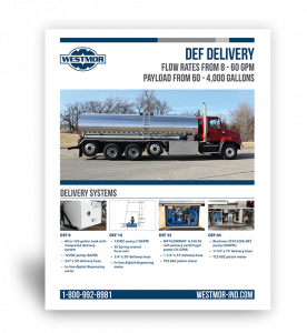 DEF Delivery Systems Spec Sheet by Westmor Industries