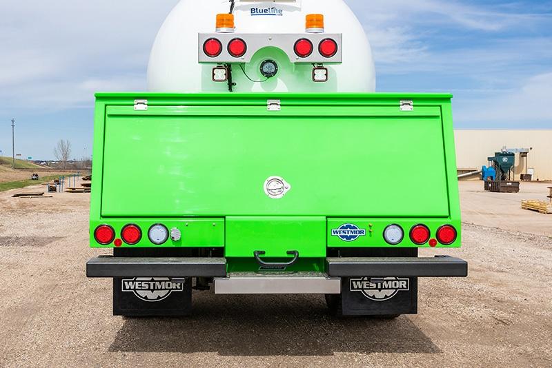 ergoload deck option- enclosed deck design - lime green- by Westmor