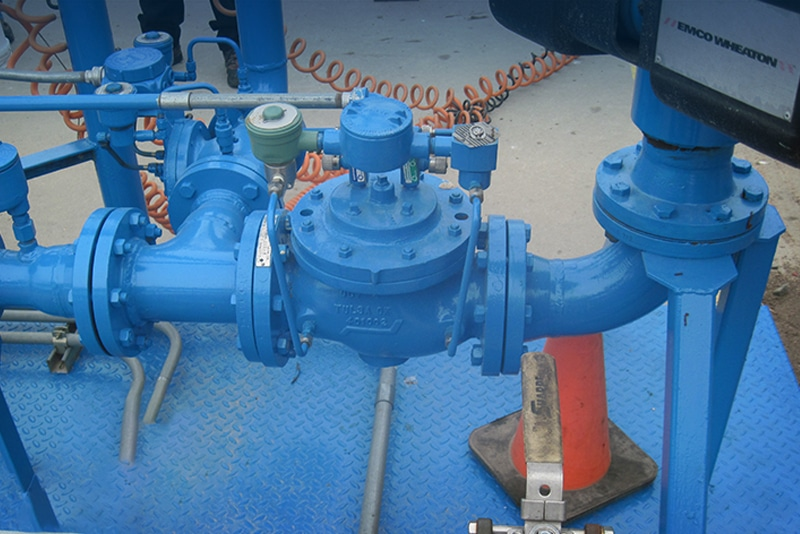 Ethanol Blending Skid Painted Blue | Westmor Industries