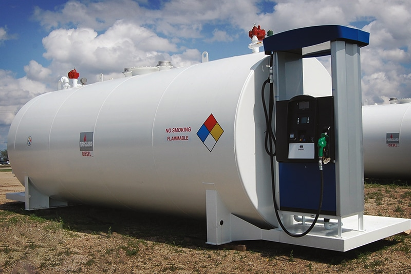Horizontal Fuel Storage with Dispenser by Westmor Industries