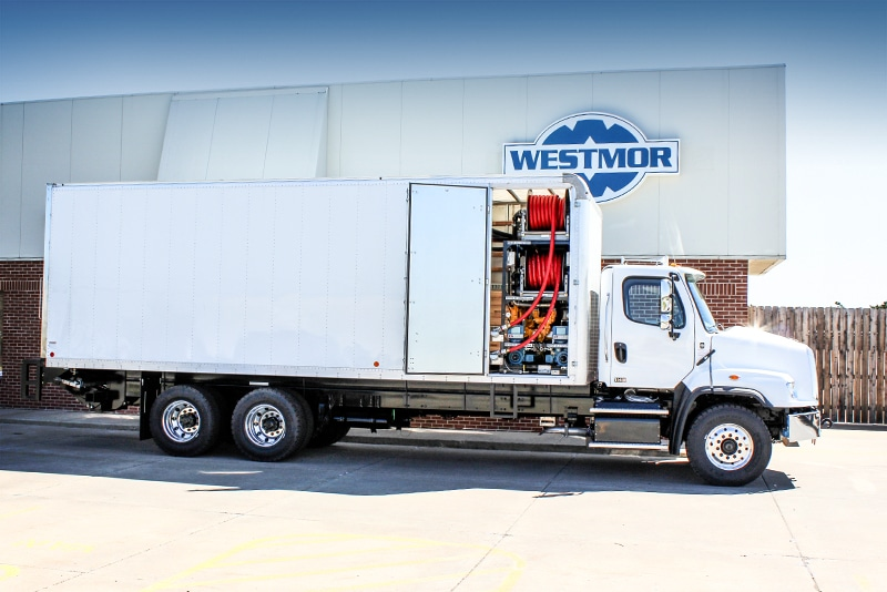 Tower Style Lube Van Manufactured by Westmor Industries