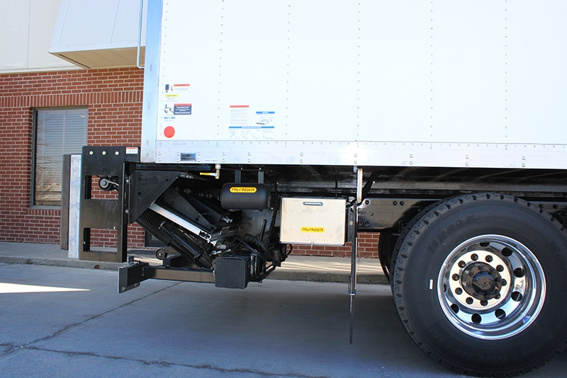 lube van Tuck-under liftgate by Westmor