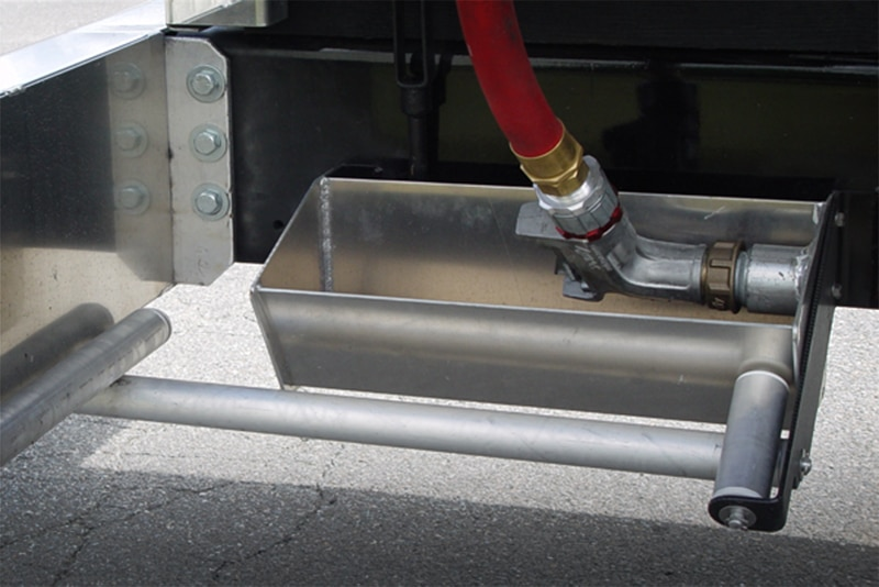 Nozzle box & rollers on JCT Refined Fuel Truck | Westmor