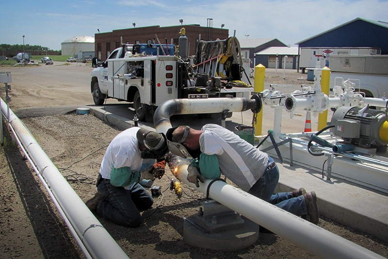 Pipe Welding at a Refined Fuel Terminal | Westmor Industries